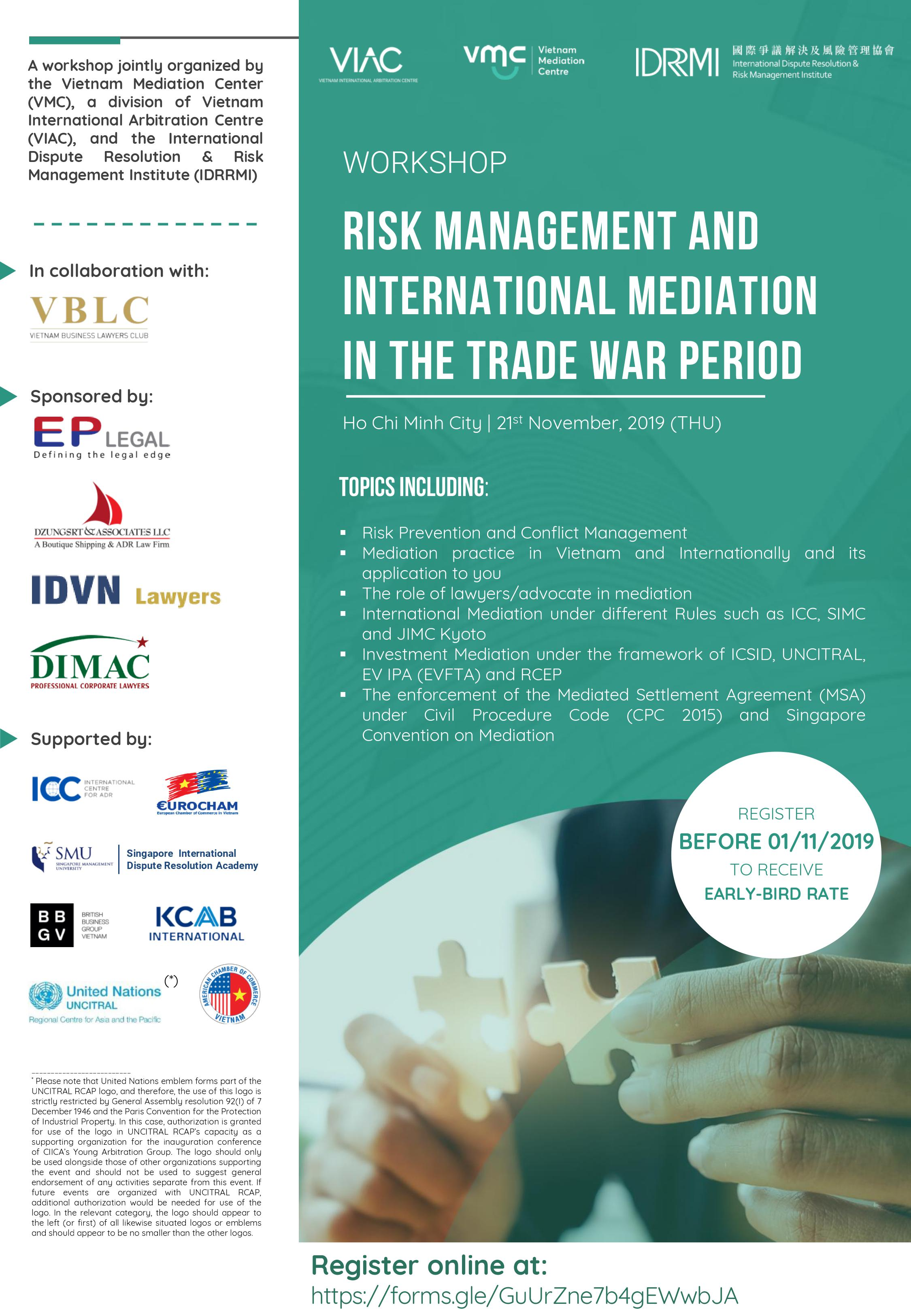 Risk Management and International Mediation in the Trade War Period